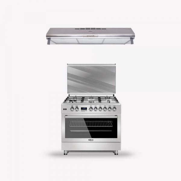 Combo Cocina 6 Hornillas F9S60GF-SS + Campana Lineal N5 90SS